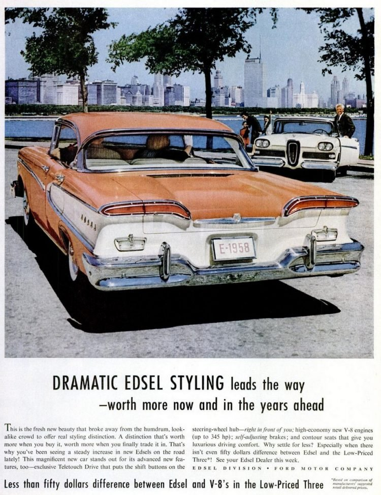 Aug 11, 1958 - Dramatic Edsel styling from Ford