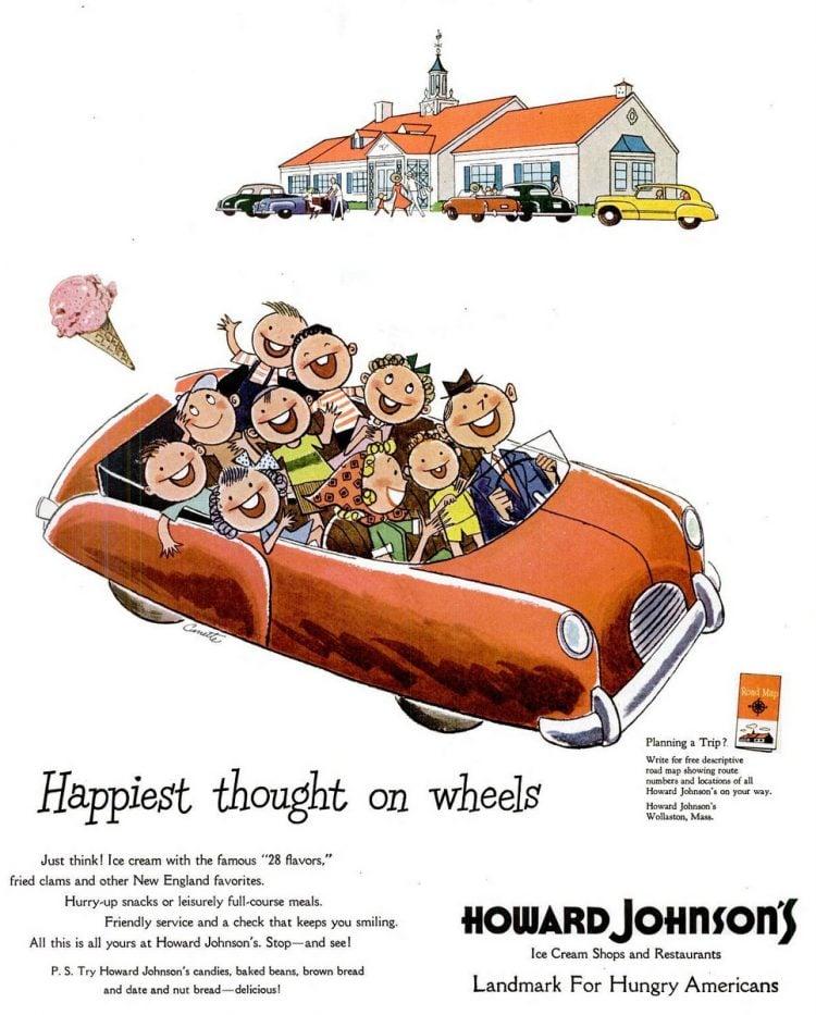 Aug 7, 1950 Howard Johnson's restaurant