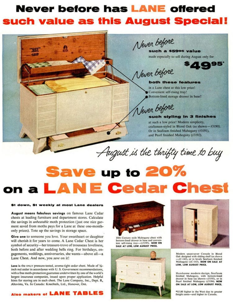 Aug 8, 1955 hope chest