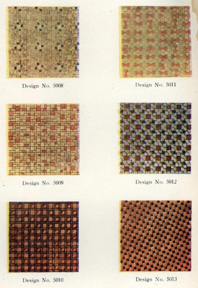 Authentic 20s tile designs and patterns from the home from 1929 at Click Americana (2)