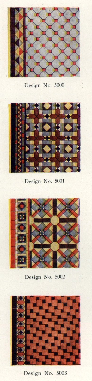 Authentic vintage home decoration with '20s tile patterns