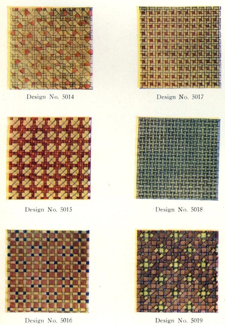 Authentic 20s tile designs and patterns from the home from 1929 at Click Americana (4)