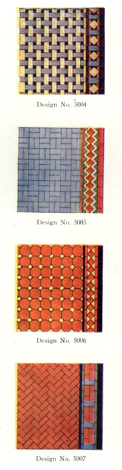Authentic 20s tile designs and patterns from the home from 1929 at Click Americana (5)