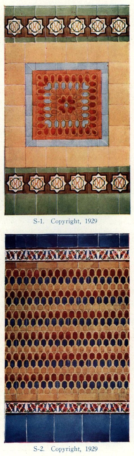 Authentic 20s tile designs and patterns from the home from 1929 at Click Americana (6)