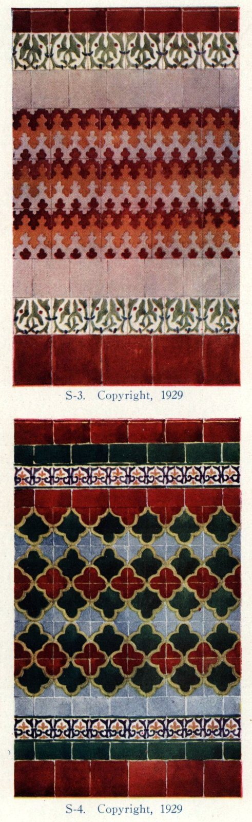 Authentic 20s tile designs and patterns from the home from 1929 at Click Americana (7)
