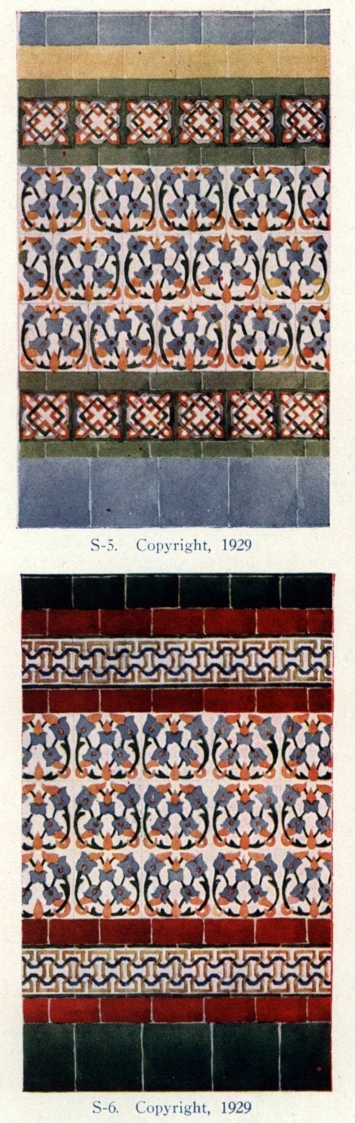 Authentic 20s tile designs and patterns from the home from 1929 at Click Americana (8)