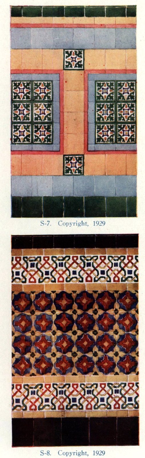 Authentic 20s tile designs and patterns from the home from 1929 at Click Americana (9)
