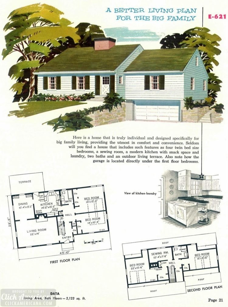 130 Vintage 50s House Plans Used To Build Millions Of Mid Century Homes We Still Live In Today Click Americana