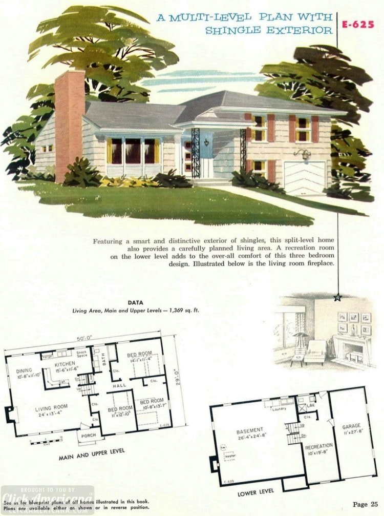 Authentic vintage designs for suburban homes built in 1955 - at Click Americana (15)