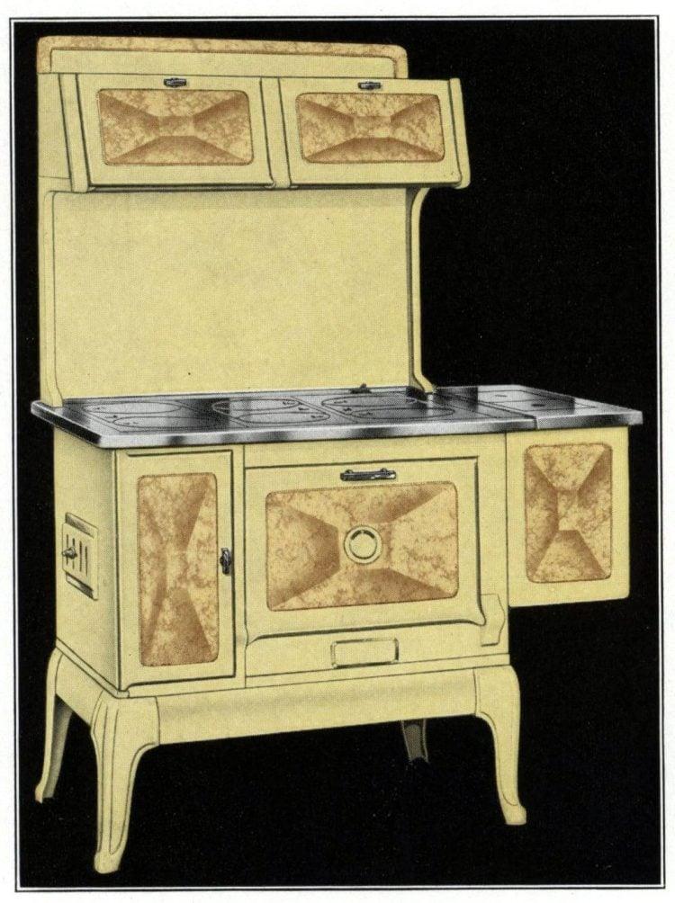 Auto Stove Works yellow kitchen range from 1935