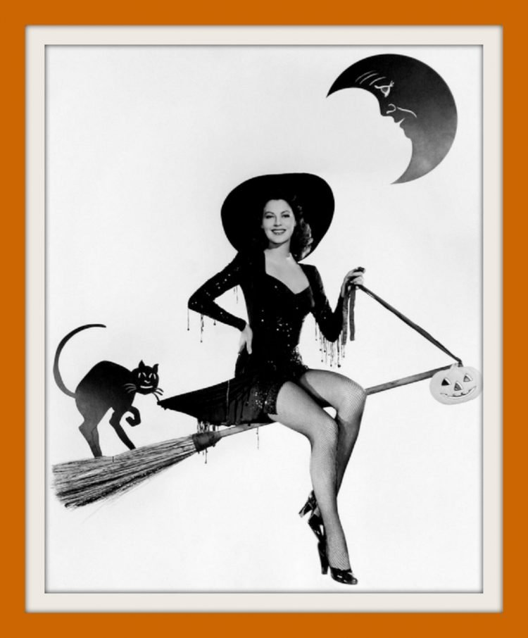 Ava Gardner - Vintage pinup girl for Halloween