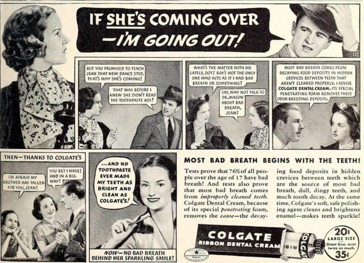 Avoiding her - Colgate - Mean vintage ads - Click Americana