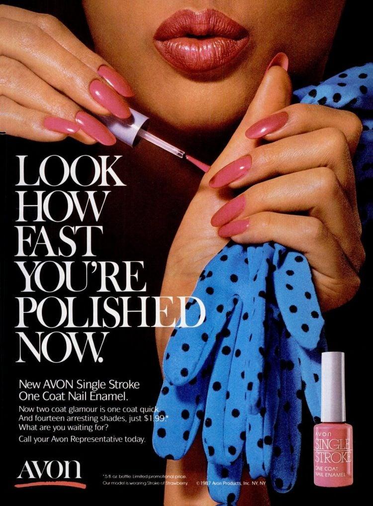 Avon Single Stroke One Coat nail polish (1987)