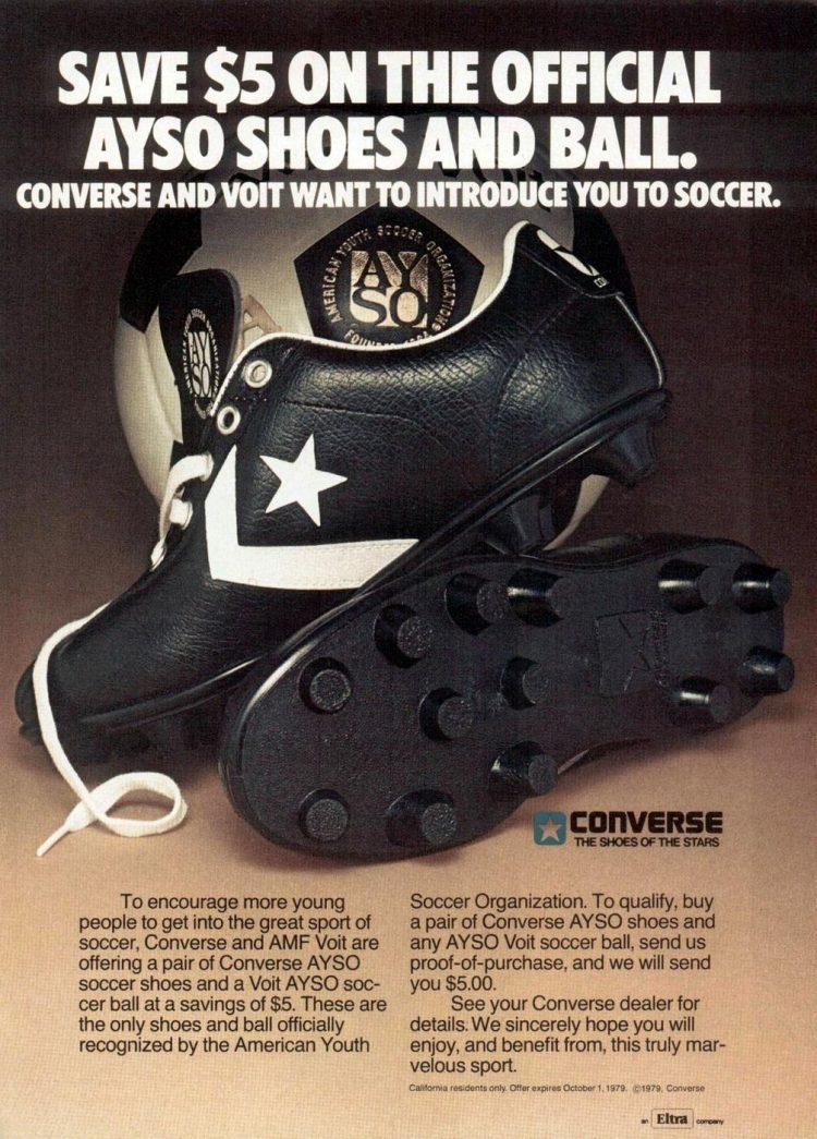 Ayso soccer shoes from Converse 1978
