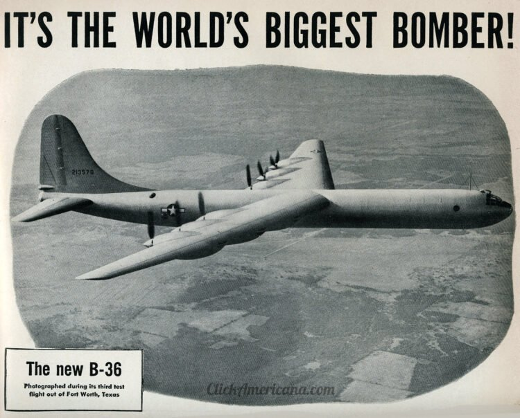 B-36 The world's largest bomber - Military plane from 1946 (2)