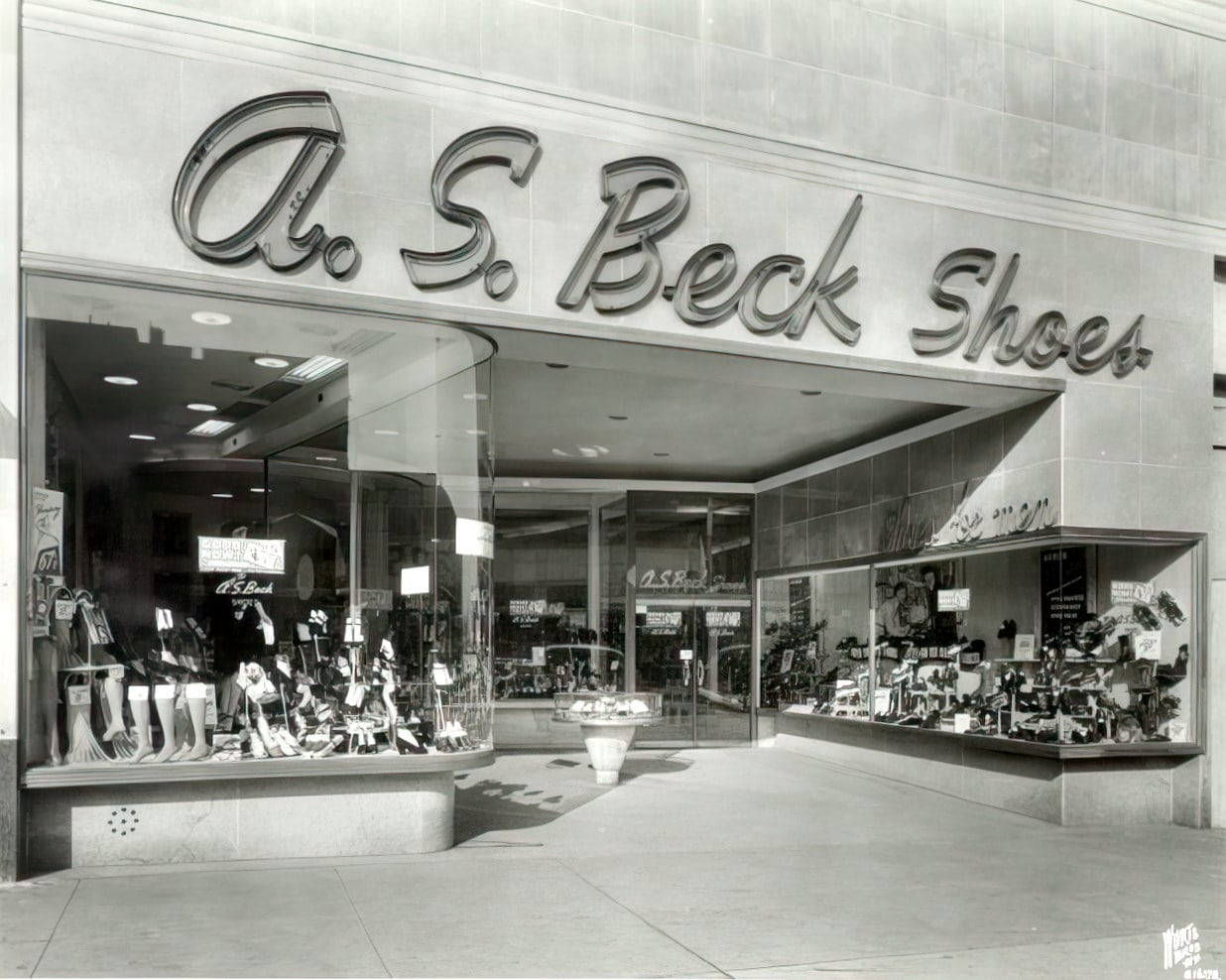 A S Beck Shoe store - Queens NY 1940s-1950s