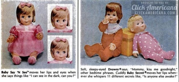 baby-say-n-see-drowsy-baby-secret-dolls-mattel-toys-from-1967