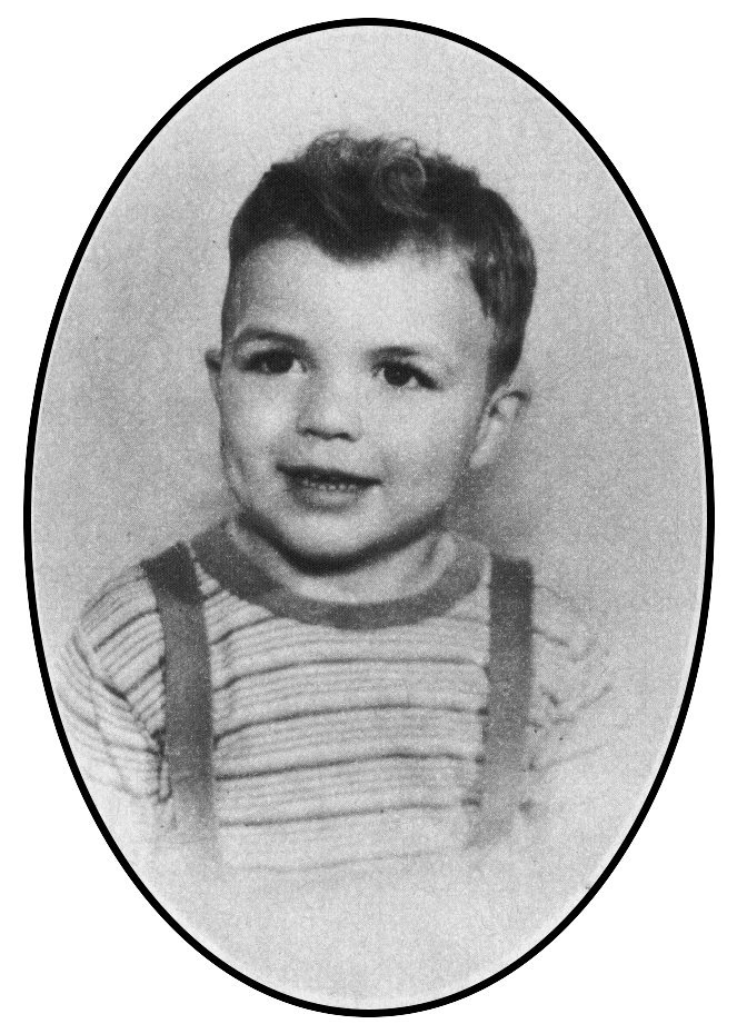 Baby Tom Selleck at age 2 in 1946