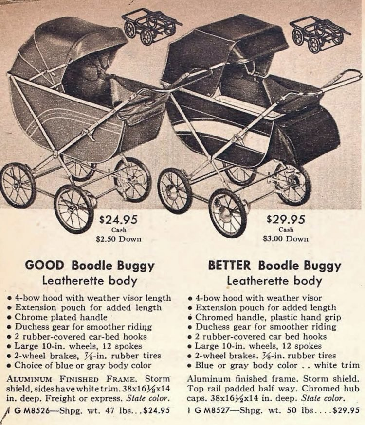 Baby buggy - carriages from 1952