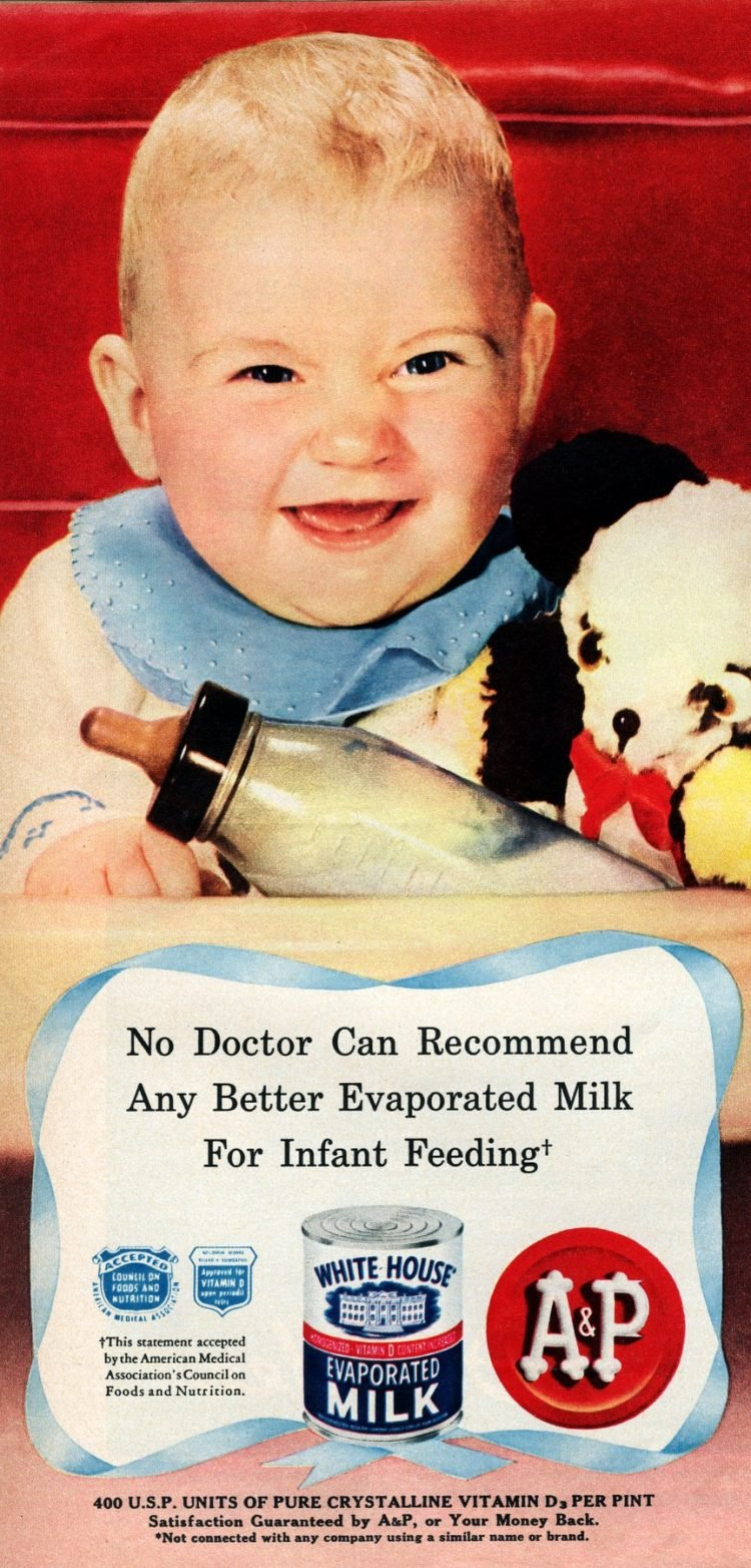 Baby milk from 1950