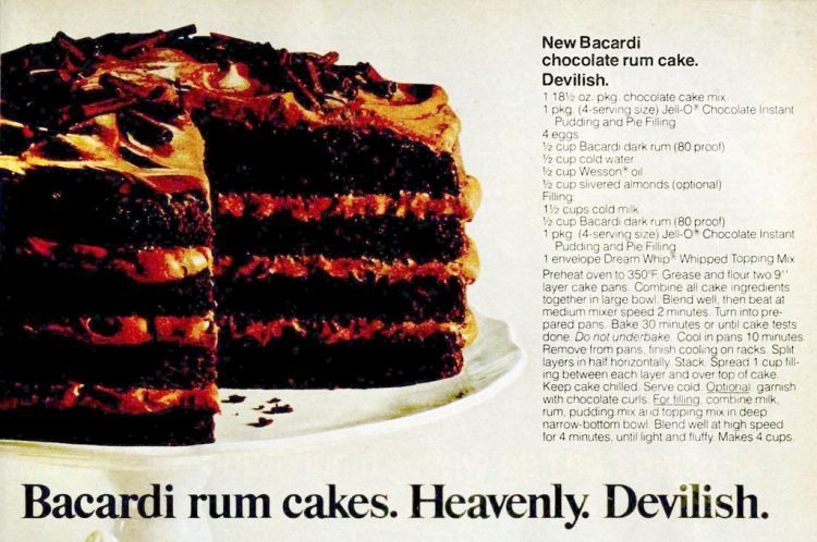 Bacardi chocolate rum cake The original retro recipe from 1977