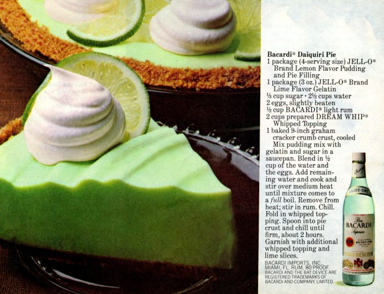 Bacardi daiquiri pie with lemon & lime flavors