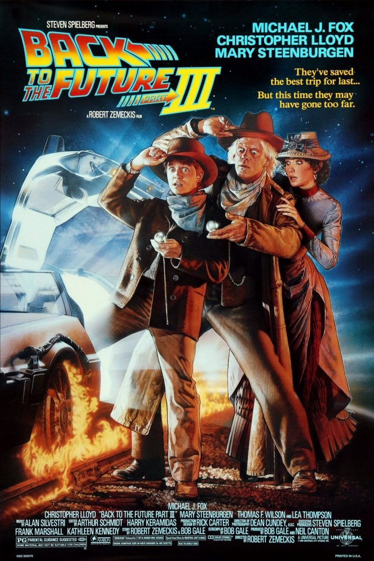 Back to the Future 3 movie poster - 1985