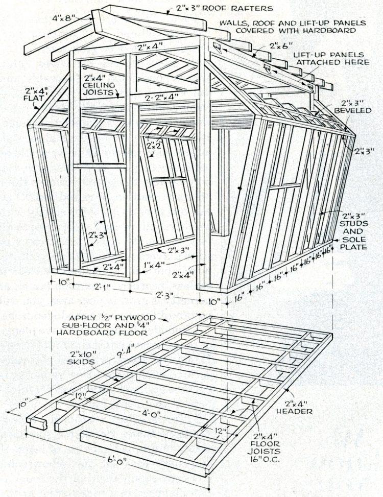 Backyard barn design 1965 (1)
