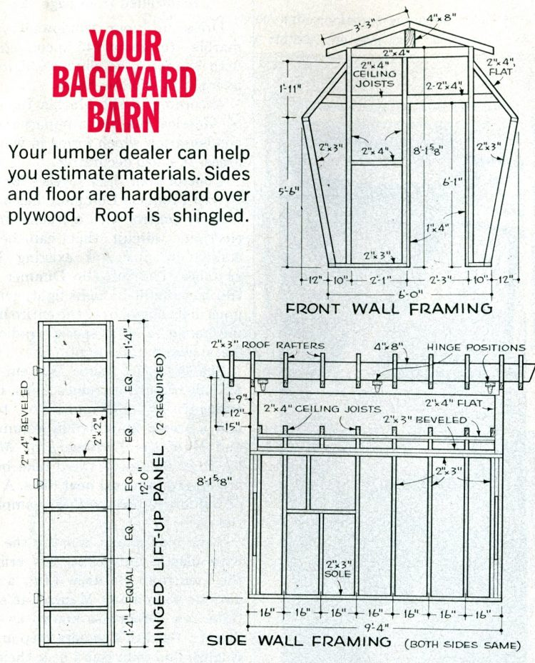 Backyard barn design 1965 (2)