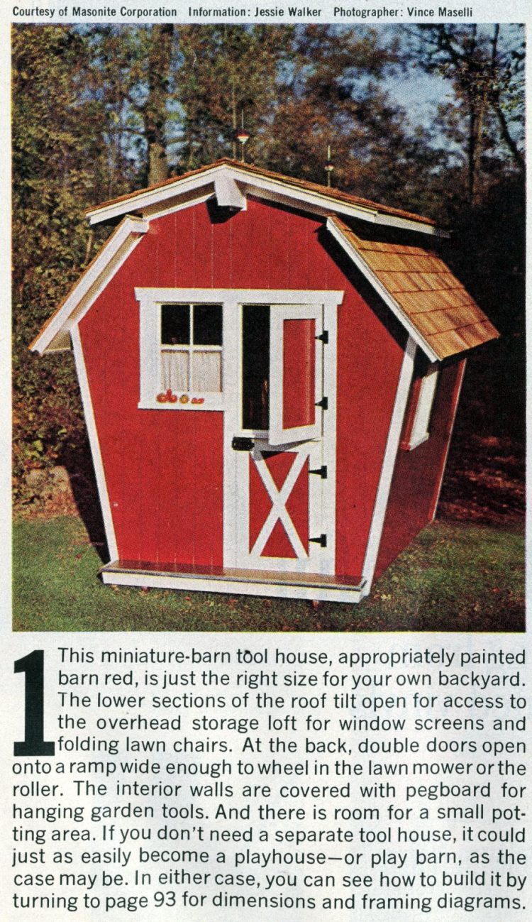 Backyard barn playhouse 1965