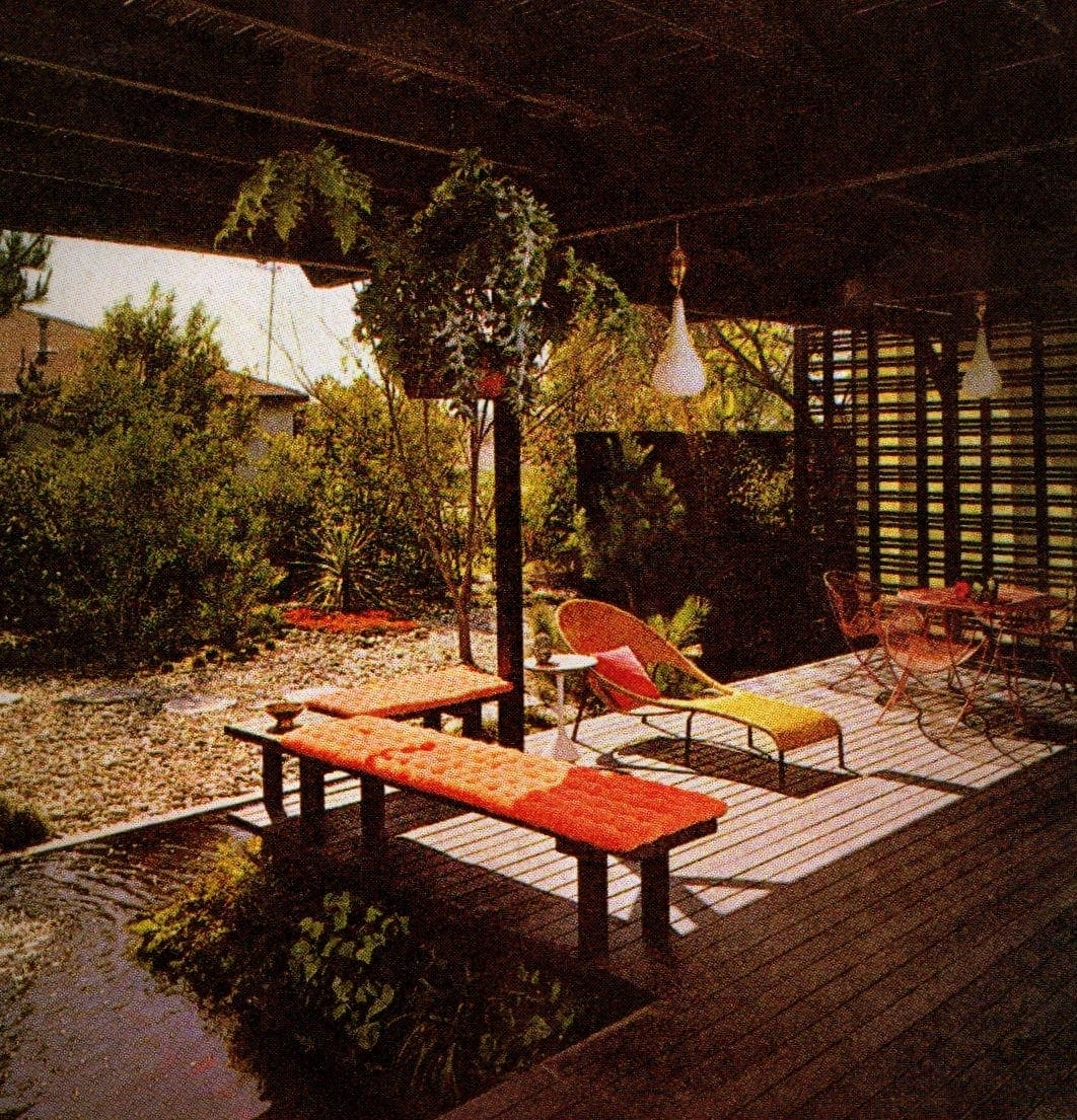 Vintage backyard covered patio inspiration from 1965