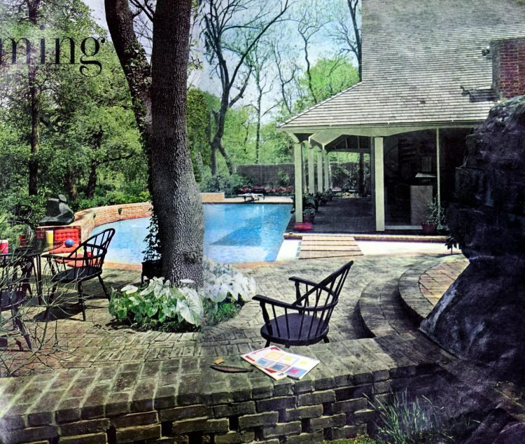 Backyard patio pool from 1966