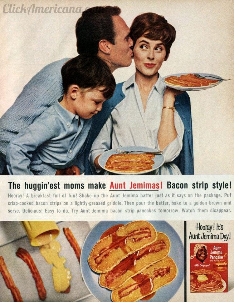 Bacon pancakes - Bacon strip pancakes recipe from 1964 (2)