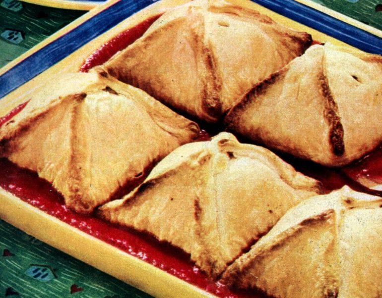 Baked meat loaf dumpling recipe (1950)