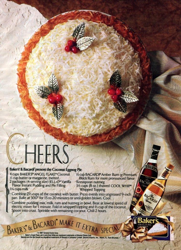 Bakers Bacardi present the Coconut Eggnog Pie-1987