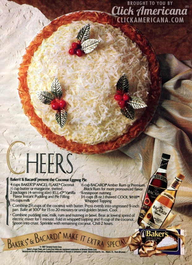 Bakers Bacardi present the Coconut Eggnog Pie-1987