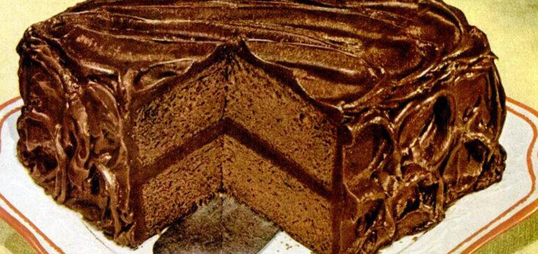 Baker's Chocolate Wellesley fudge cake recipe