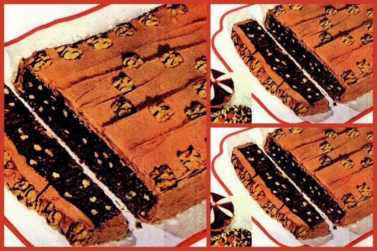 Baker's chocolate nut loaf with mocha frosting Vintage dessert delights from 1932