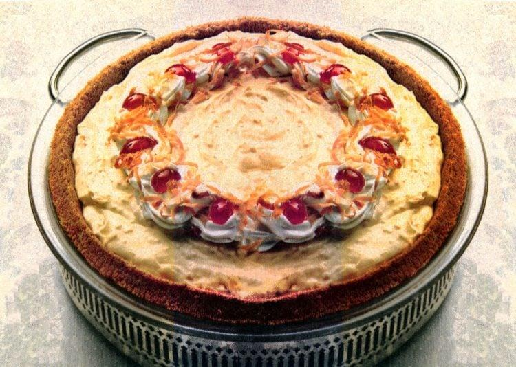 Baker's coconut eggnog pie recipe