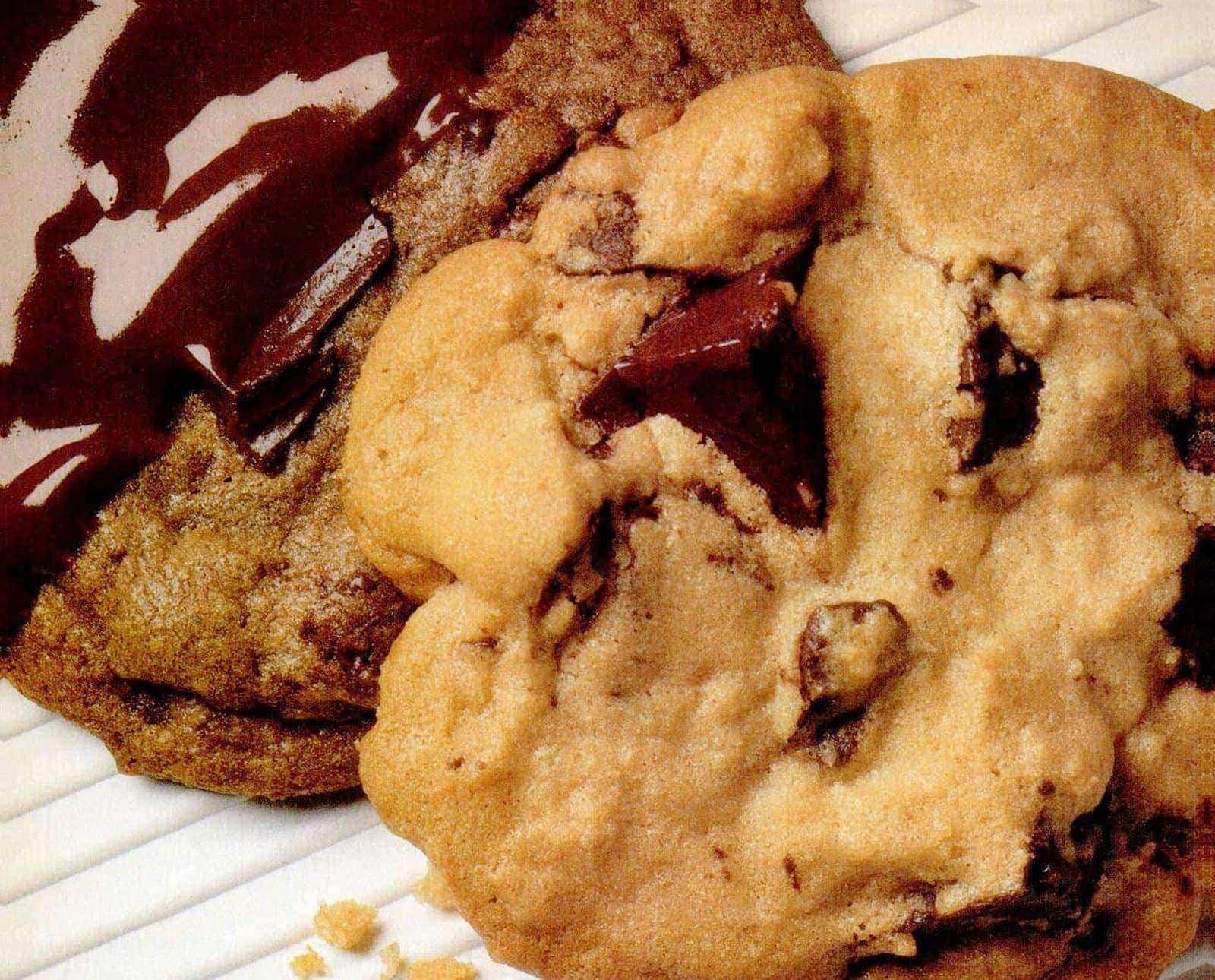 Baker's super chocolate chunk cookies - vintage recipe