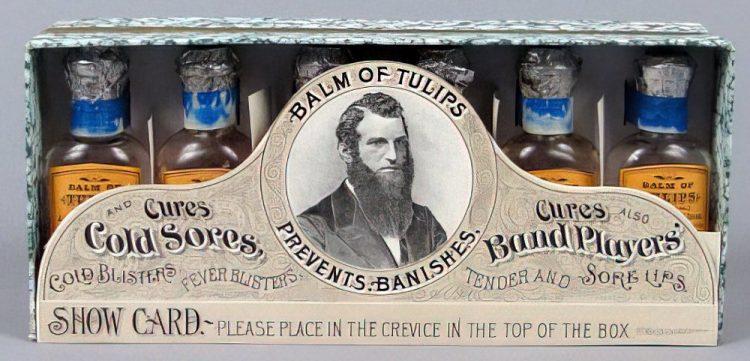 Balm of Tulips medicine bottles 1900s