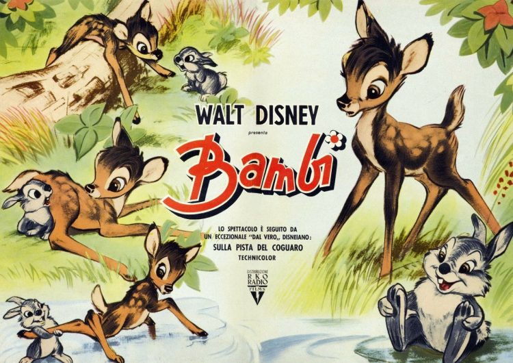 Bambi - Italian movie poster 1942