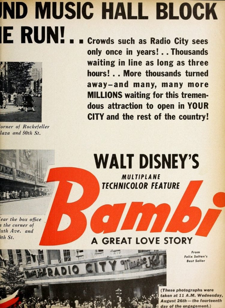 Bambi movie crowds 1942 (1)
