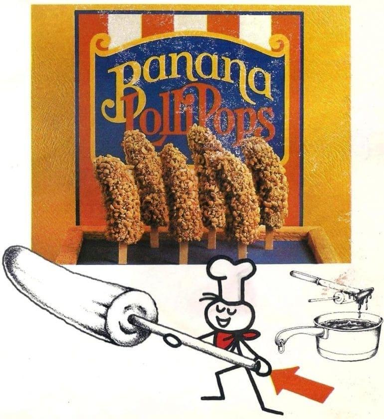 Banana Lollipops vintage recipe 1980 (2)