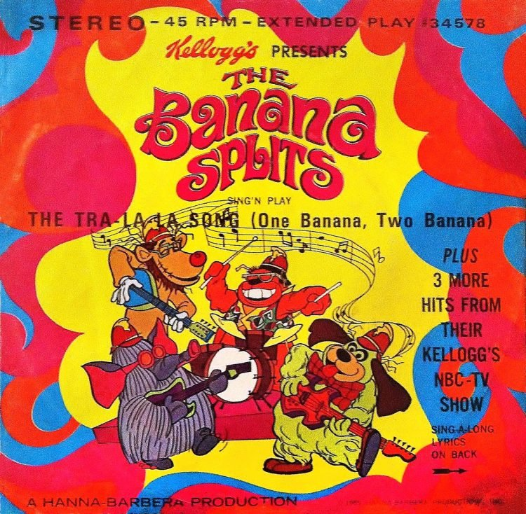 Banana Splits theme song 45 single
