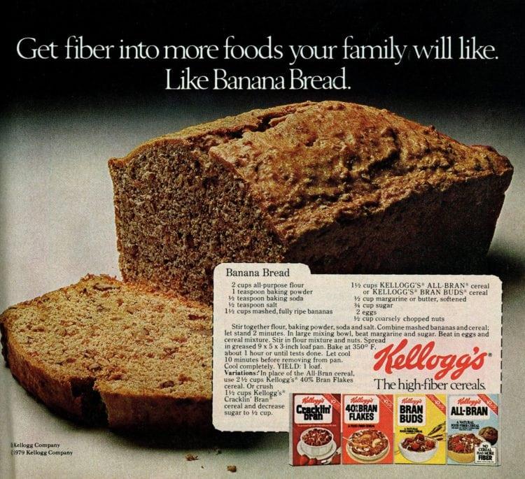 Banana bread with bran vintage recipe (1)