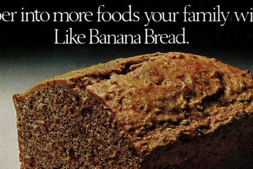 Banana bread with bran vintage recipe (3)