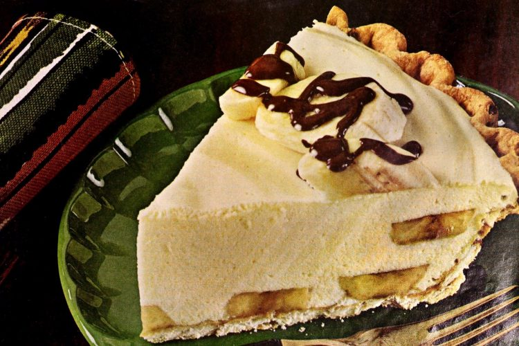 Banana rum pie recipe