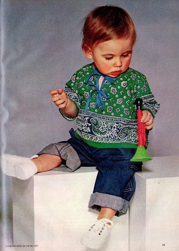 Bandana baby clothes How to make them, retro-style (1)