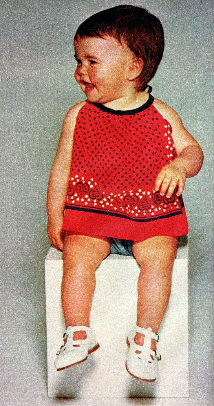 Bandana baby clothes How to make them, retro-style (3)